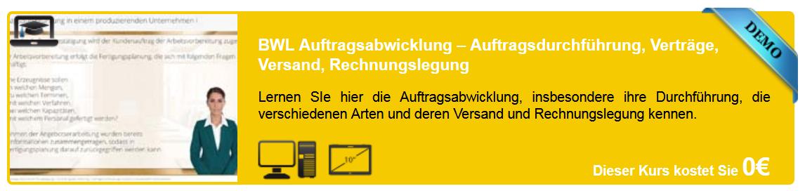 e-Content - BWL - Auftragsabwicklung