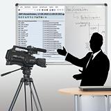 Aufnahmestudio für Lernvideos